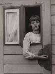 August Sander - Young Girl in Circus Caravan