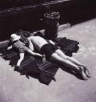 Eva Besnyö, sunbathing