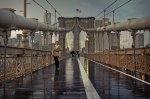 BrooklynbridgeaftertherainatsunsetNewYork