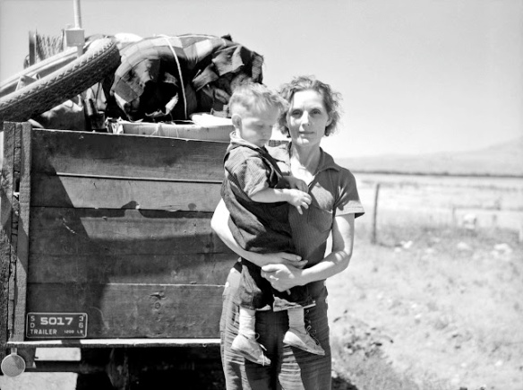 Arthur+Rothstein+-+Drought+refugees+from+South+Dakota.+Montana,+1936